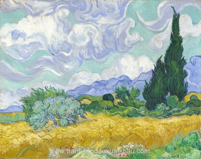 A Wheatfield, with Cypresses - GOG-08